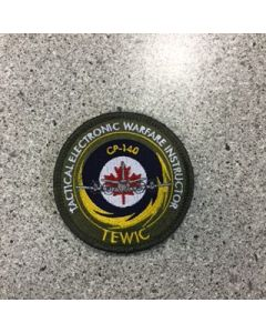 10273 - Tactical Electronic Warfare Instructorg Course Patch Coloured LVG - TEWIC CP-140 - 3 Wing