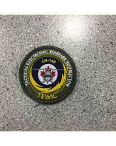 10274 - Tactical Electronic Warfare Instructor Course Patch Coloured LVG - TEWIC CH-146 - 3 Wing