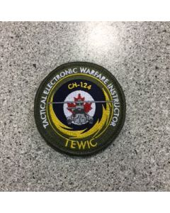 10275 - Tactical Electronic Warfare Instructor Course Patch Coloured LVG - TEWIC CH-124 - 3 Wing