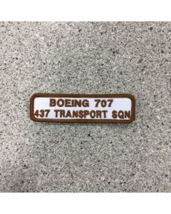 11024 - Boing 707 - 437 Transport Squadron Patch - 437 Sqn