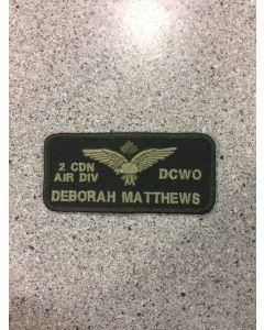 11350 - 2 Canadian Air Division DCWO Nametag LVG (2 CAD)