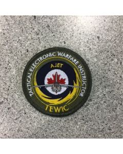 12166 434B - TEWIC Coloured LVG Patch - Alph Jet - Military