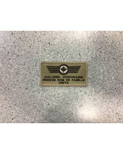 14021 474 D - Nametag Tan pour Colonel Honoraire