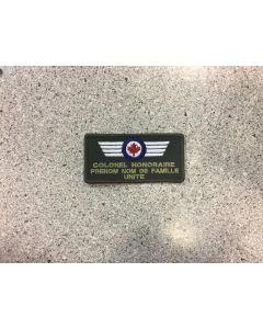 14061 474 D - Nametag Version couleur et VBV pour Colonel Honoraire