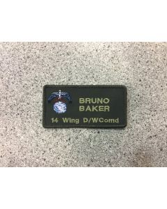 14195 - 14 Wing D/Wcomd Coloured LVG Nametag