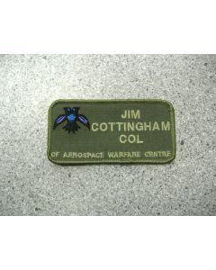 1467 265E - CF Aerospace Warfare Centre Nametag LVG