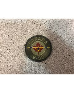 14843 39 E - Canada 2-33 Coloured LVG Patch  - RGS(NW)