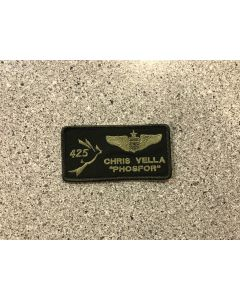 15033 - 425 Squadron with US Wings LVG Nametag
