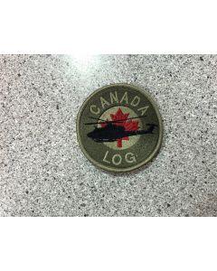 15403-2-D-Canada Griffon Coloured LVG Patch - LOG