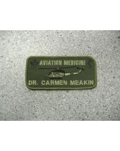1607 94B - Aviation Medicine - Griffon Nametag LVG