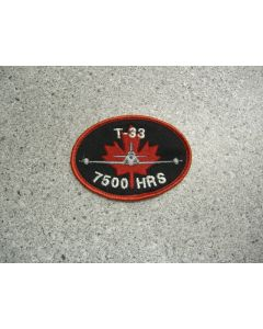 1682 - T-33 7500 Hour Patch