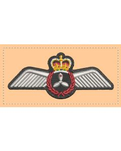 17162 - Flight Engineer's Wings Coloured Tan Patch