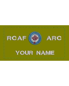 17384 RCAF/ARC Coloured LVG Nametag with Sliver Text