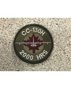 18015 CC-130H 2000 Hours Air-to-Air Refuelling Hercules Coloured LVG Patch