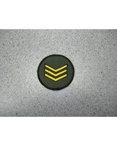 1853 95 D - Sgt Patch - Gold