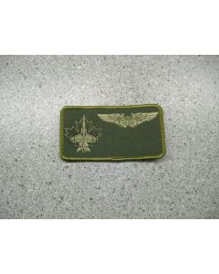 2814 35 - 3 Wing Nametag with US Pilot Wings LVG