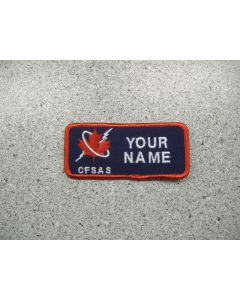 2867 - Canadian Forces School of Aerospace Studies Nametag