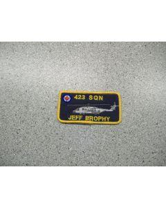 2919 265 F - 423 Sqn Cyclone Nametag