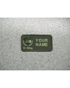 2932 - 15 Wing Moose Jaw Nametag LVG