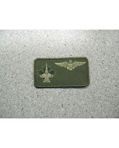 2983 - 3 Wing Nametag with US Pilot Wings LVG #2