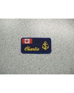 3018 - Charlie's Naval Nametag