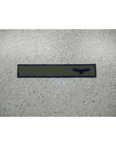 12800 - Air Force LVG Nametape on Military Green Background, Navy Blue name, eagle and edges (Set of 3)