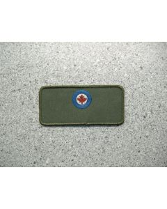 3397 60A - Roundel LV Colour on Military Green Background Nametag