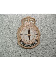 3987 220C - 408 Squadron Heraldic Crest Tan