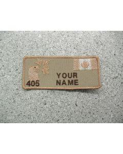 3997 - 405 Squadron Nametag Tan