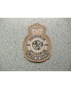 4015 66 - 439 Squadron Heraldic Crest Tan