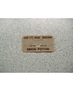 4048 221E - 429 (T) Sqn Bison Nametag Tan