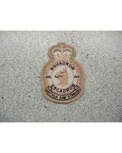4279 231E - 403 Squadron Heraldic Crest Tan