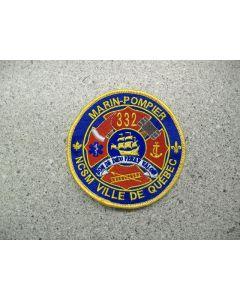 4406 151 D - Marin Pompier - NCSM Ville de Quebec Patch