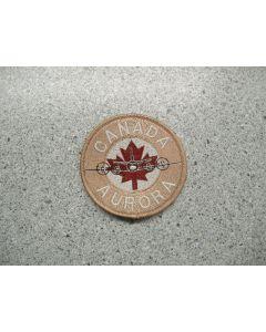 4637 147B - Canada Aurora Patch #2 Tan with Maroon Maple Flag