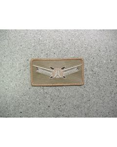 4640 158 F - Senior Space Command Patch Tan
