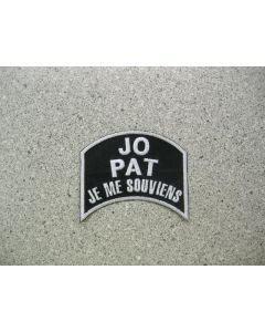 5164 100 B - Jo and Pat, Je me souviens Patch