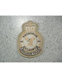 5454 261A - 400 Squadron Hereldic crest tan