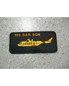 5572 - 103 Squadron Nametag - Cormorant Orange Text