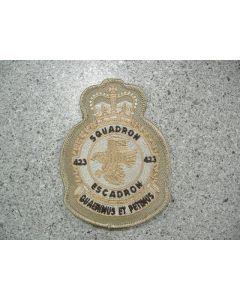 5577 198D - 423 Heraldic Crest tan on tan fabric