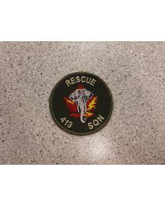 6057 289D - 413 Sqn Rescue Patch Coloured LVG