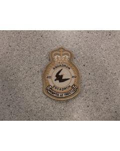 6245 261 F - 412 Squadron Heraldic Crest Tan