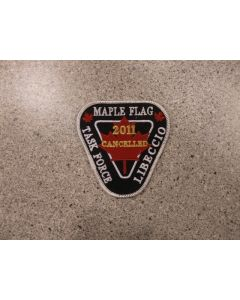 7688 - Maple Flag 2011 Patch Cancelled - Task Force Libeccio