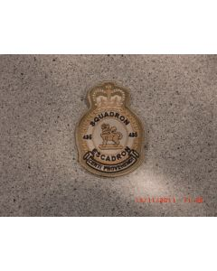 7743 - 435 Squadron Heraldic Crest Tan