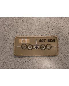 7846 - 407 Squadron Nametag Tan