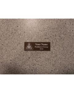 LE3 - Plastic laser engraved Beaver nametag.